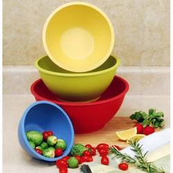 4-Piece Bamboo Fiber Mixing Bowl Set