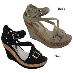Bucco Women's 'Asia' Wedge Sandals