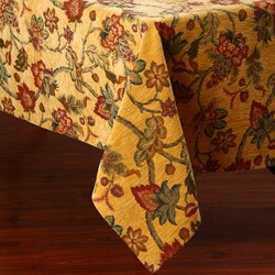 Floral Design 50x90-inch Italian Heavy Weight Tablecloth
