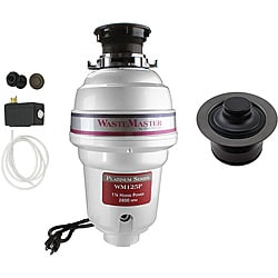 WasteMaster WM125P_1_12 1/4 HP Garbage Disposal with Air Switch/ Flange Kit