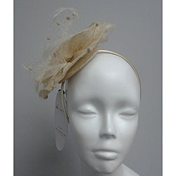 Gold Elegant Synamay Cocktail Fascinator