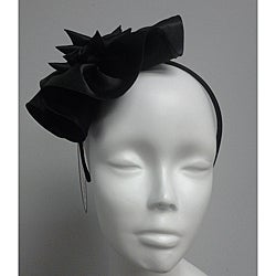 Black Elegant Synamay Cocktail Fascinator