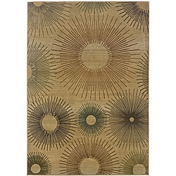 Sydney Beige/ Rust Contemporary Area Rug (9'9 x 12'2)