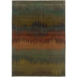 Sydney Blue/ Brown Transitional Area Rug (9&#39;9 x 12&#39;2)