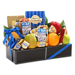 Alder Creek Gifts Number 1 Dad Fresh Fruit and Snack Basket