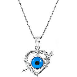 ABO Enterpises Evil Eye Heart Necklace