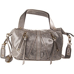 Fossil Grey Monika Small Convertible Leather Satchel