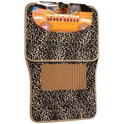 BDK Car Safari Cheetah Floor Mats (Set of 4)