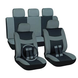 Grey 17-piece Car Seat Cover Automotive Set