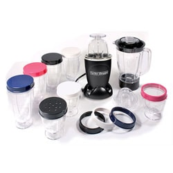 Cook's Essentials Black 19-piece Turbo Chopper and Blender Set
