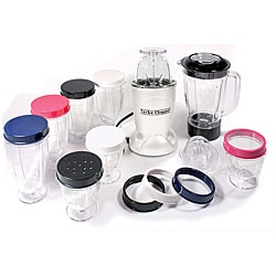 Cook's Essentials White 19-piece Turbo Chopper and Blender Set