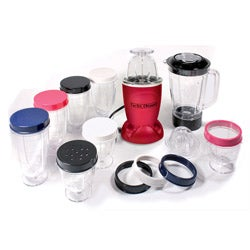 Cook's Essentials Red 19-piece Turbo Chopper and Blender Set