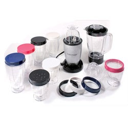 Cook's Essentials Silver 19-piece Turbo Chopper and Blender Set