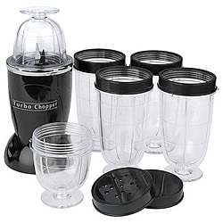 Cook's Essentials Black 10-piece Turbo Chopper Express