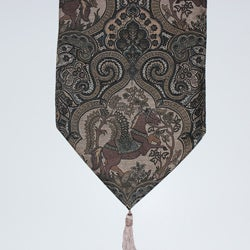 RLF Home Sage Paisley Table Runner
