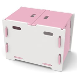Legare Kids Pink/ White Toy Box