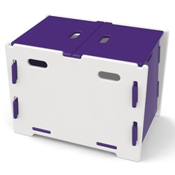 Legare Kids Purple/ White Toy Box