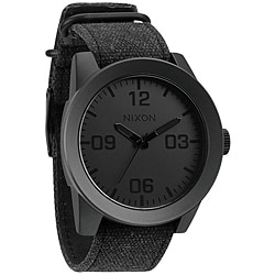 Nixon Men's 'Corporal' Matte Black and Gunmetal Watch