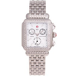 Michele Women's 'Deco' Diamond Chronograph Watch