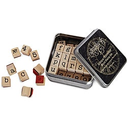 Staples Antique Typewriter Wood Stamp Set