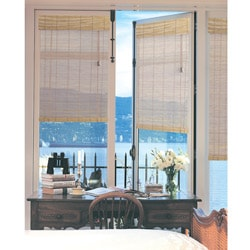 French Door Bamboo Blind in Natural 24x72 inch