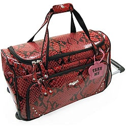 Kathy Van Zeeland Bohemian 20-inch Carry On Rolling Upright Duffel Bag