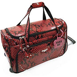 Kathy Van Zeeland Bohemian 20-inch Carry On Rolling Upright Duffel Bag