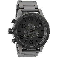 Nixon Men's '51-30' Stainless Steel Gunmetal Watch