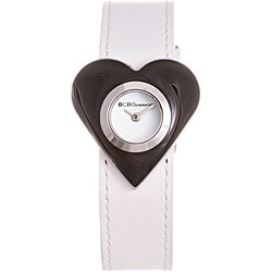 BCBGeneration Women's Leather Strap Heart Watch