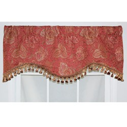 RLF Home Persimmon Cotton Caldwell Cornice Window Valance