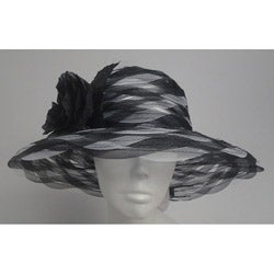 Swan Women's Black/ White Braided Crinoline Floppy Hat