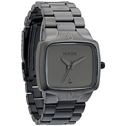 Nixon Men's 'Player' Matte Black and Gunmetal Watch