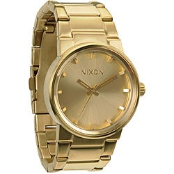 Nixon Men's 'Cannon' Goldtone Analog Watch
