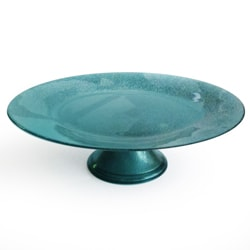 Notions by Jay Glitter Blue Pedestal Plate