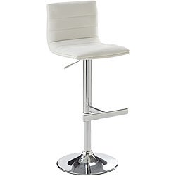 Sunpan Imports Motivo White Adjustable Barstool