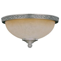 Pewter Die-cast Tea Glass Dome Light Fixture