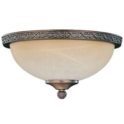 Bronze Die-cast Tea Glass Dome Light Fixture