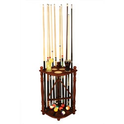 Hardwood Saratoga Pool Cue Rack
