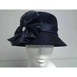 Swan Women's Navy Organza Crushable Bucket Hat