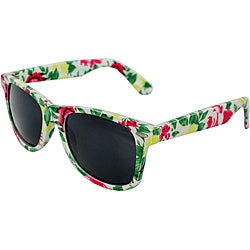 Women's Green Floral Sunglasses