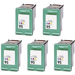 Hewlett Packard 95 Colored Ink Cartridge (Pack of 5 Color) (Remanufactured)