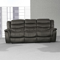 Casanova Brown Faux Leather Dual Reclining Sofa