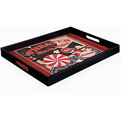 Accents by Jay Movie Night Serving Tray with Handles