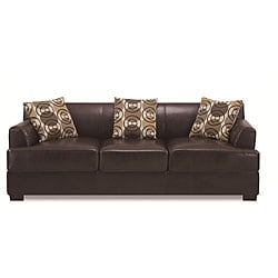 Dark Chocolate Bonded Leather Sofa