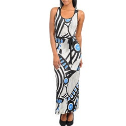Stanzino Women's Abstract Print Tank Maxi Dress