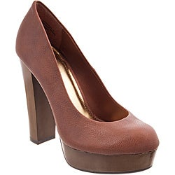 Riverberry Women's 'Zooey' Chestnut Platform Heels
