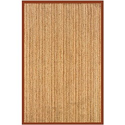 Natural Fiber Rust Rectangle Hemp Rug 9' x 12'