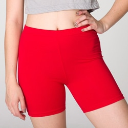 American Apparel Women's Red Cycle Shorts