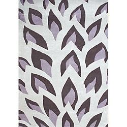 Hand Made Flame Inspiration Hushed Violet NewZealand Blend Wool Rug 8x10