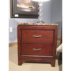 Amble Warm Cherry Finish 2-drawer Nightstand